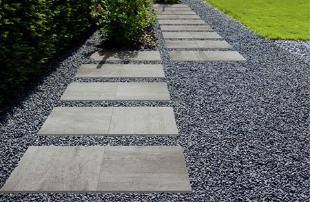 Gres porcellanato outdoor 20mm - Pietre camminamento giardino ...