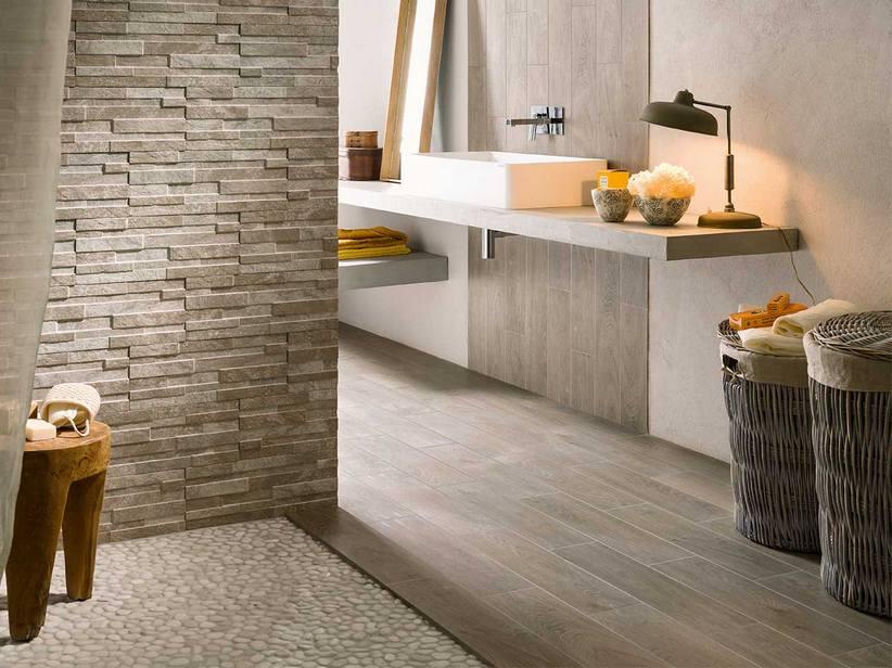 Bagno Moderno Grigio: Serie tiffany pavimenti e rivestimenti armonie by arte casa.