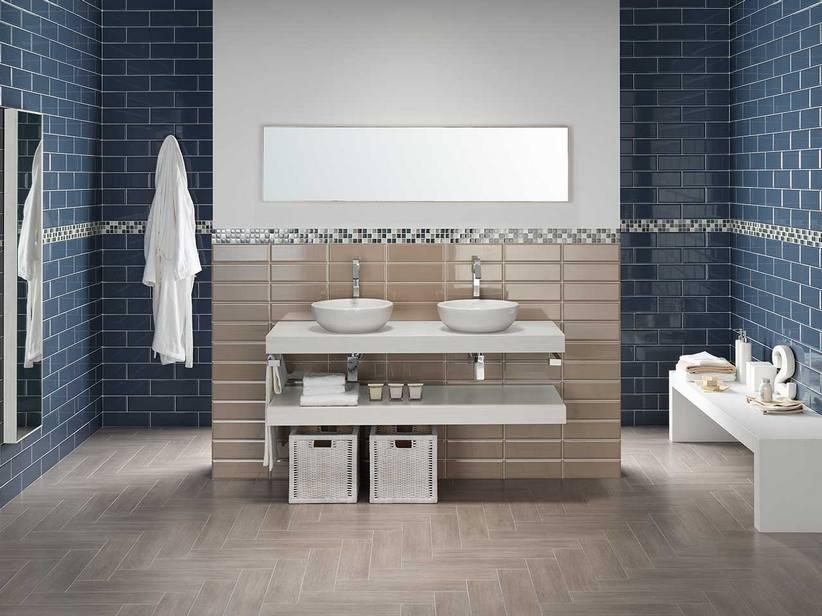 Piastrella bagno design diamantato edge iperceramica - Piastrelle bagno lucide o opache ...