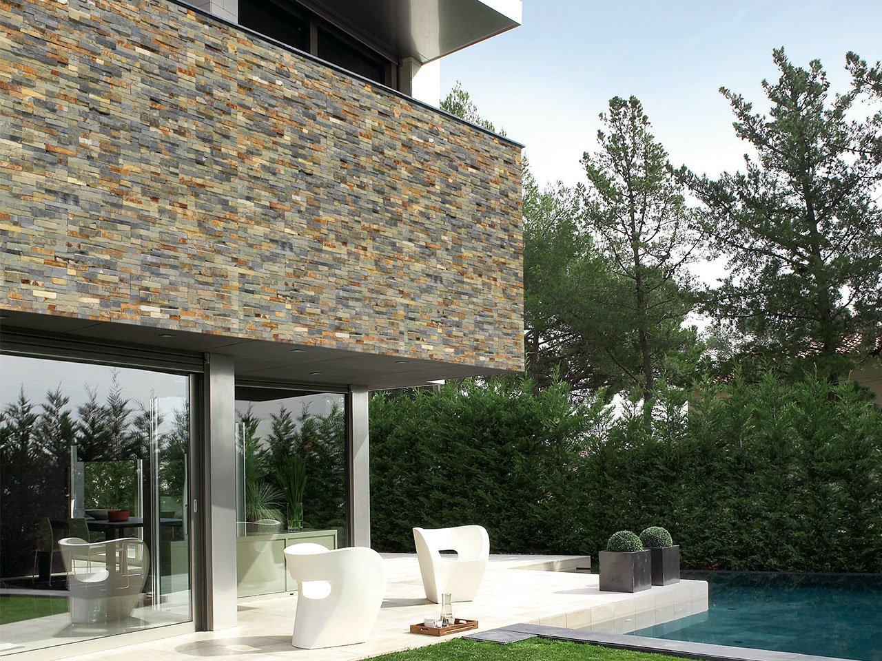 Rivestimento in pietra naturale ardesia natstone rust - Pietra a vista per esterni ...