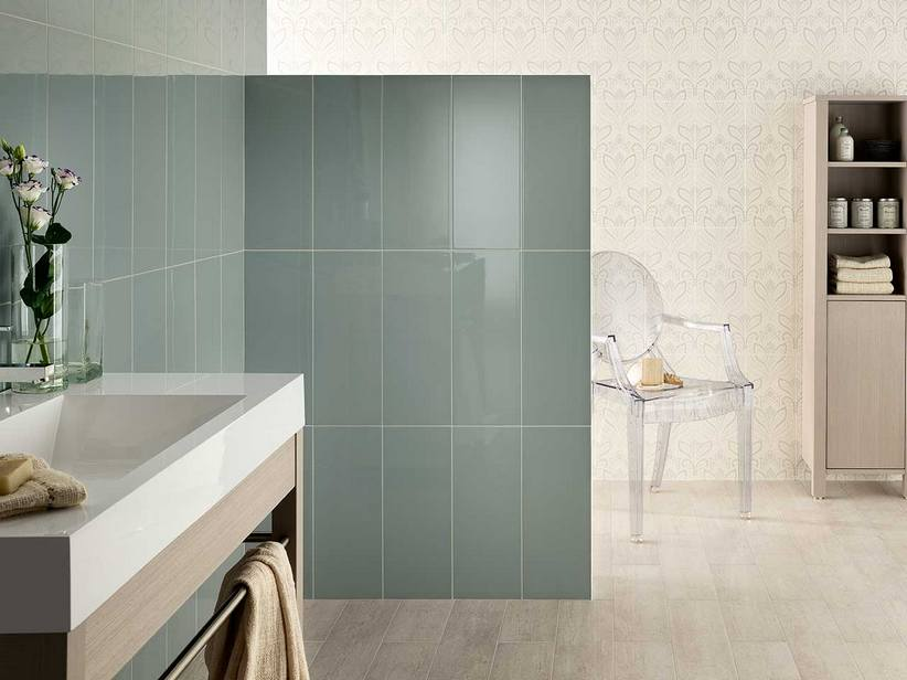 Bagno verde petrolio leroy merlin bagno piccolo small bathroom with washing machine in it - Witte steen leroy merlin ...