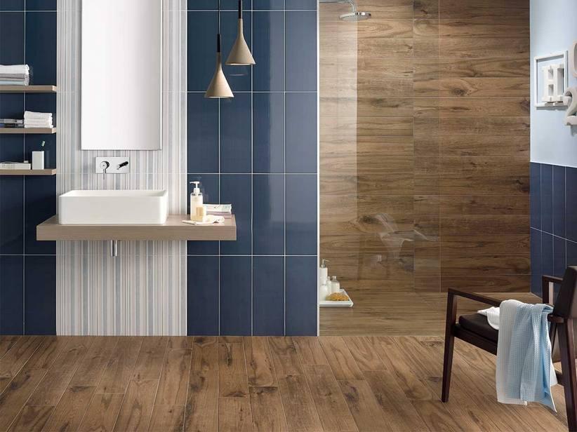 Maxi parquet in gres porcellanato timber iperceramica - Parquet nel bagno ...