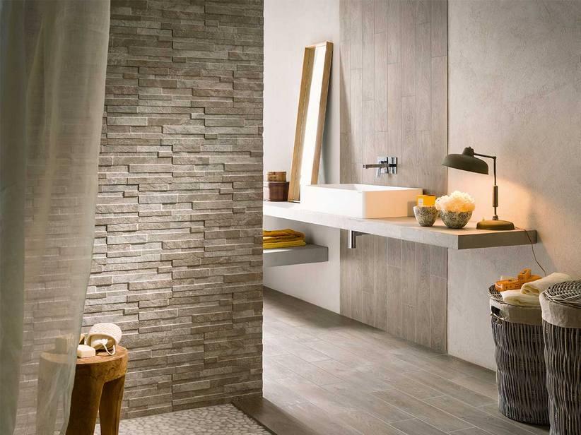 Gres porcellanato estetica pietra naturale - Iperceramica bagno ...