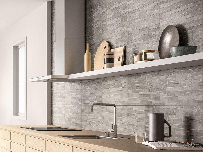 Rivestimento cucina effetto cemento minimal arkistar for Rivestimento cucina