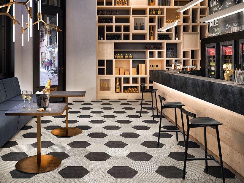 Pavimento esagonale in gres porcellanato bee iperceramica - Mattonelle pavimento cucina ...