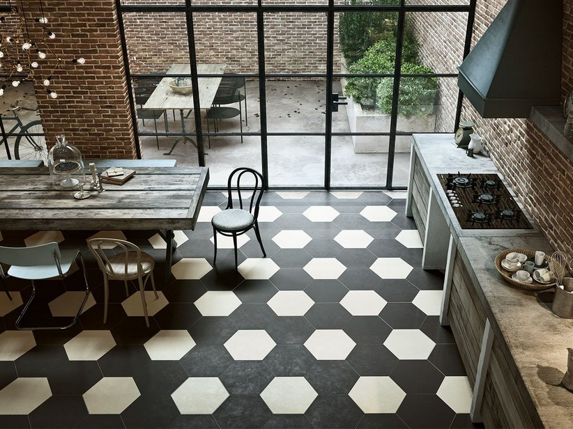 Hexagonal Porcelain tiles Bee - Iperceramica