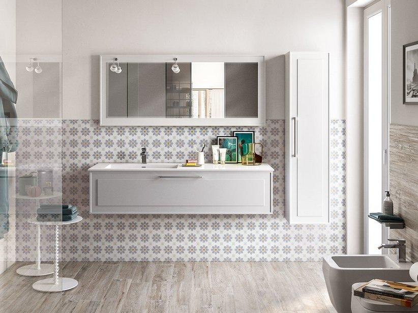 Rivestimento bagno effetto cementina bon ton iperceramica - Cementina bagno ...