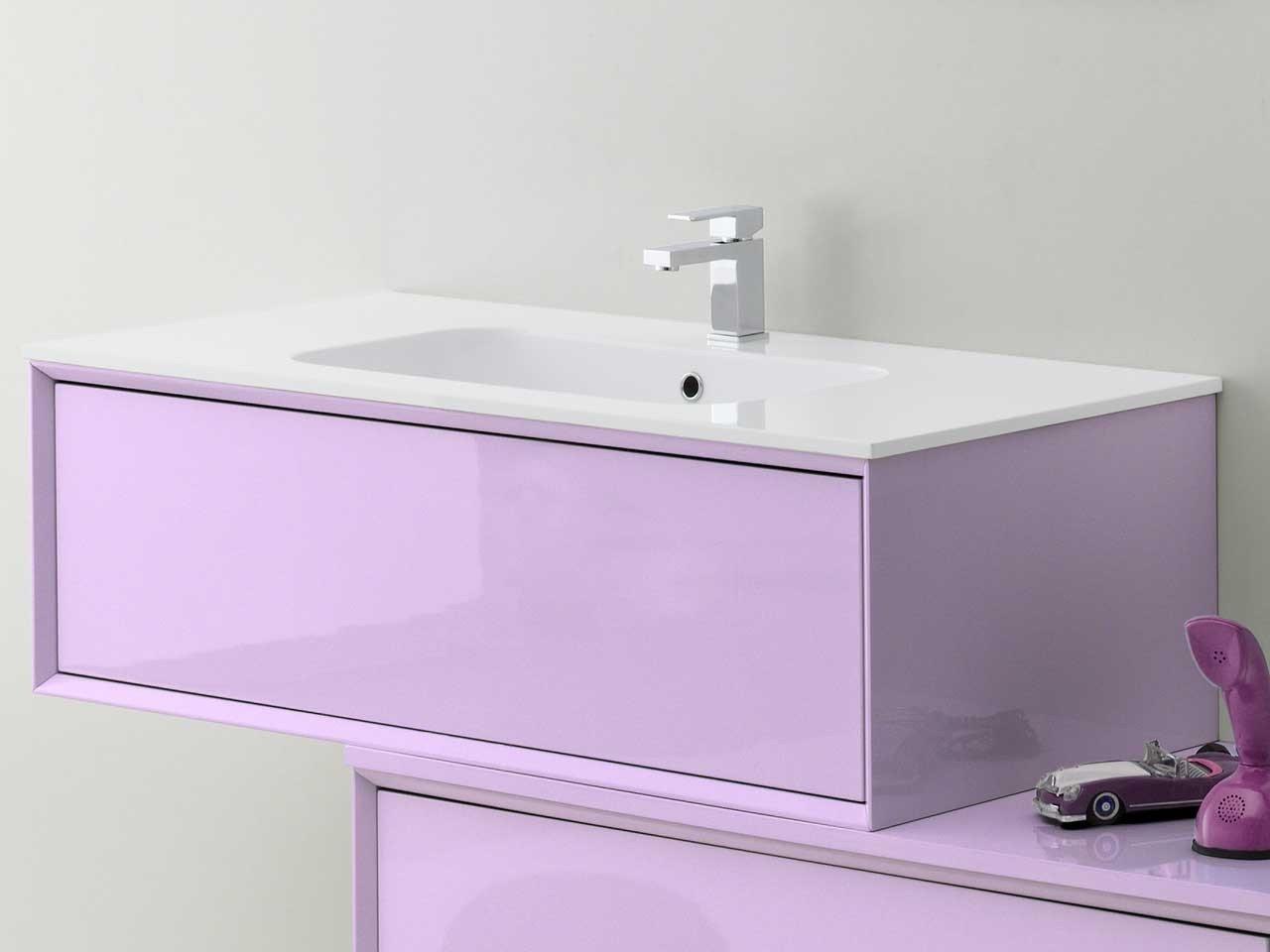 Brera color base p lavabo 90x50x33 lilla iperceramica - Mobile bagno lilla ...