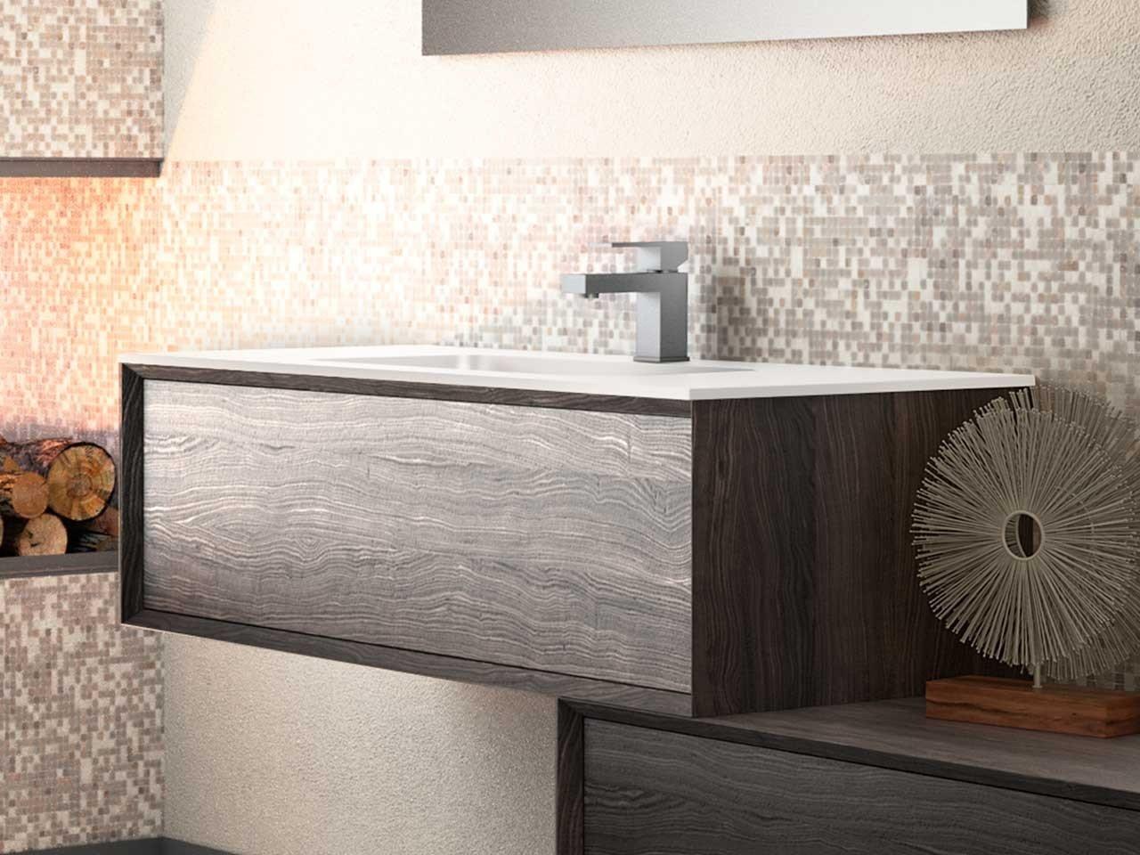 Mobili bagno legno massello 70cm - Iperceramica bagno ...