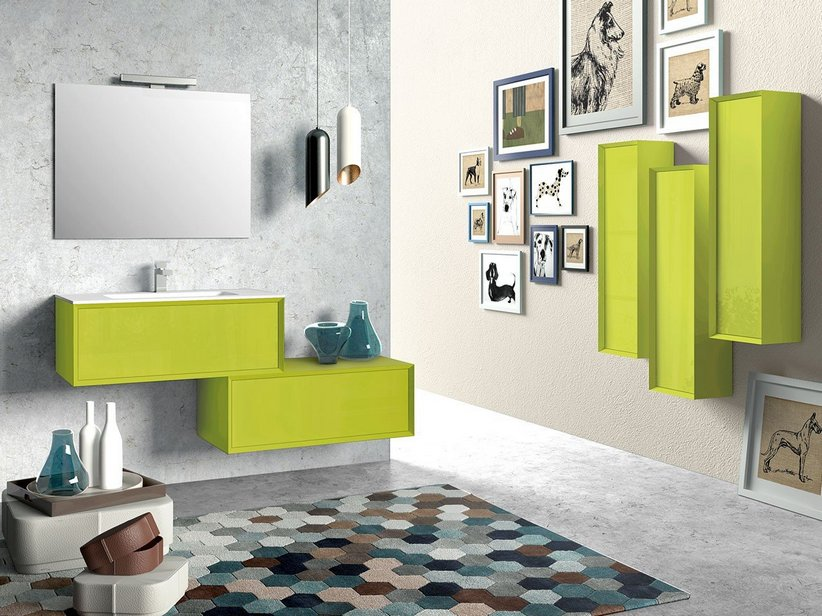 Mobile bagno brera color iperceramica