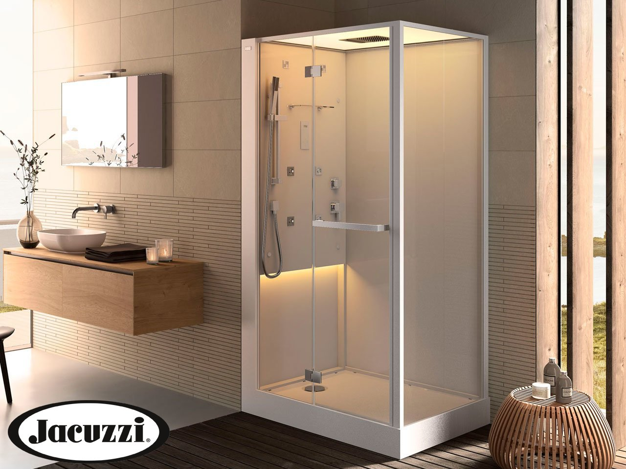 Projecta by jacuzzi bali cabina idro led cm 120x80 - Ikea catalogo box doccia ...