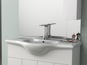 SOFT/EASY 105 LAVABO INTEGRATO 105X50 CERAMIC