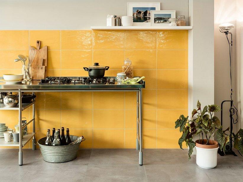 Rivestimento bagno in bicottura colorata easy iperceramica - Piastrelle 10x10 prezzi ...
