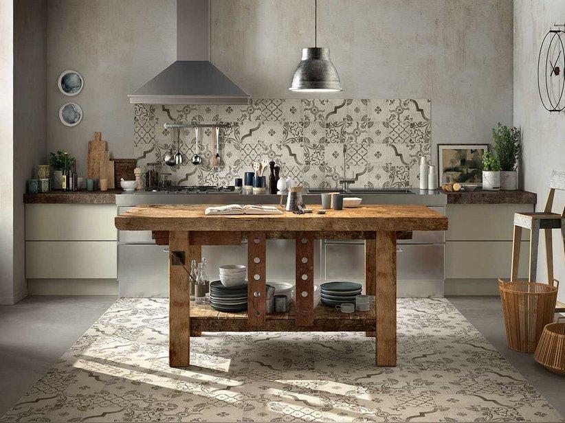 Rivestimento cucina smaltato maiolica decorata epoque iperceramica