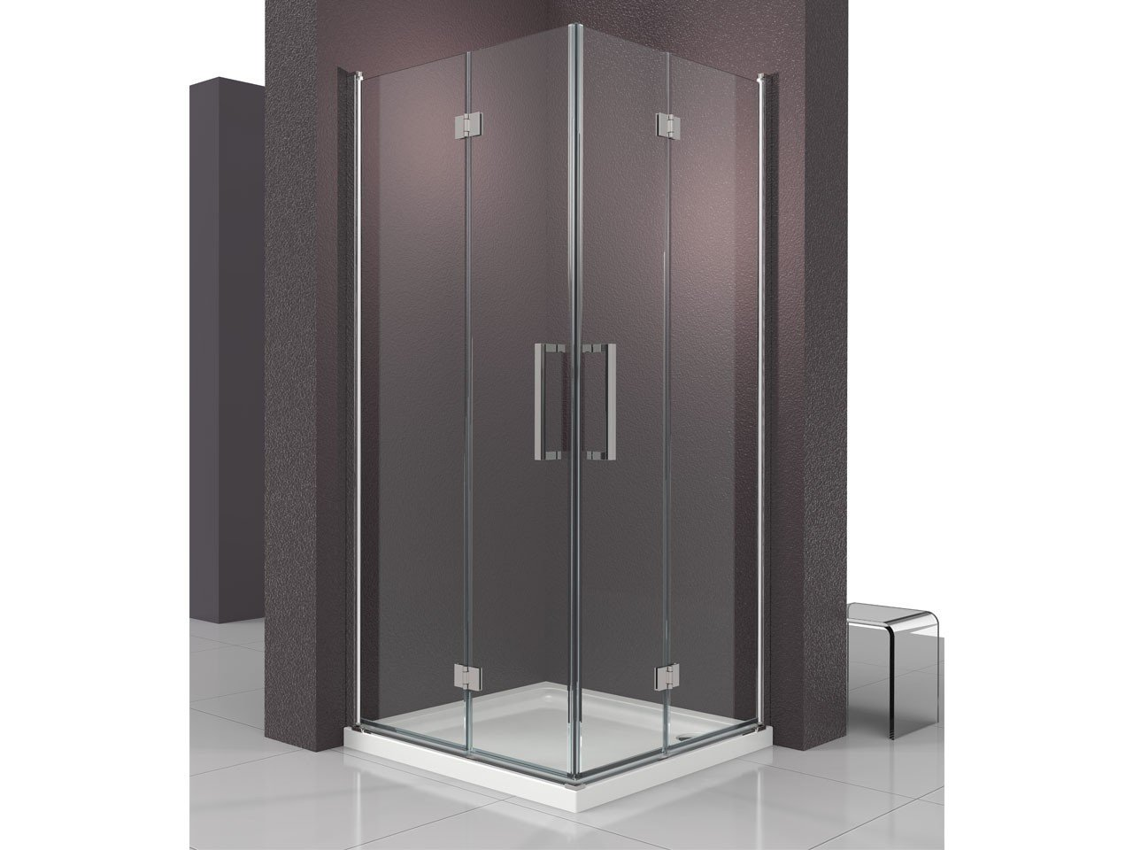 Fantasy2 box doccia pieghevole 70x90 iperceramica - Porta doccia pieghevole ...