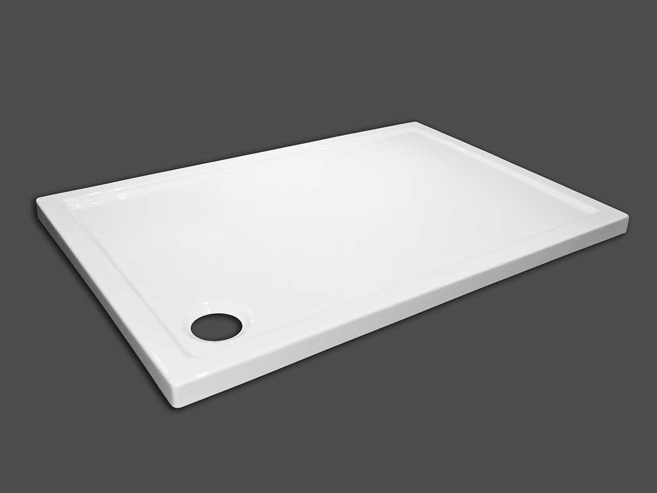 Piatto doccia flat 70x100 h5 bianco iperceramica - Piatto doccia piastrellabile ...
