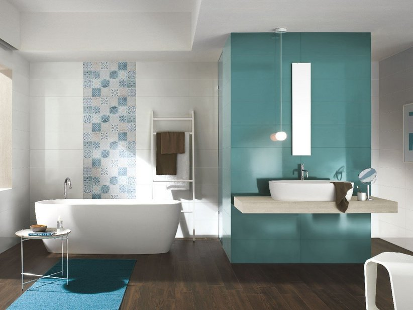 Rivestimento bagno supercolorato fresh iperceramica - Foto rivestimento bagno ...