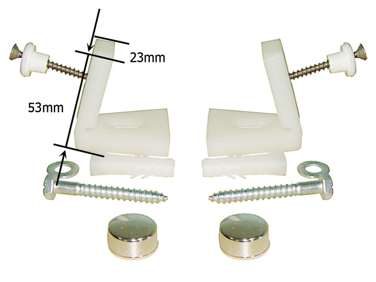 Kit fissaggio orizzontale per 1 wc bidet iperceramica for Sanitari a sospensione
