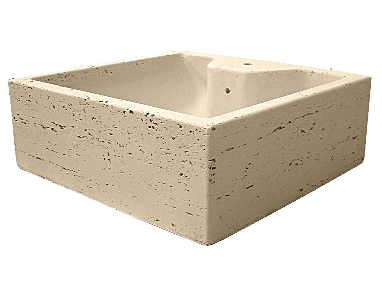 Lavabo d 39 arredo top quadrangola travert iperceramica for Lavabi d arredo