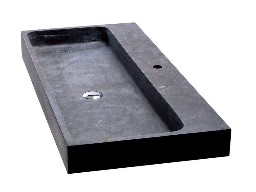 Lavabo purestone recife 100x49xh10 nero iperceramica - Lavabo giardino ...