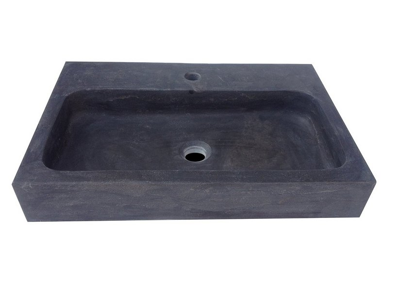 Lavabo purestone recife 60x40xh10 nero   iperceramica