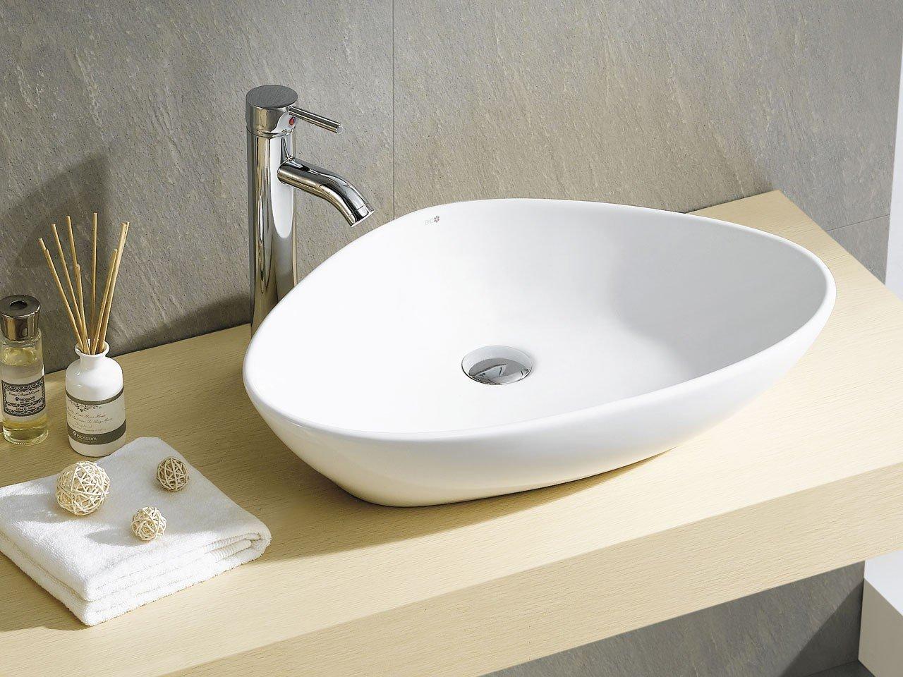 Lavabo d 39 arredo teruel 58 5x39 h14 ceram iperceramica - Lavandini da incasso bagno ...