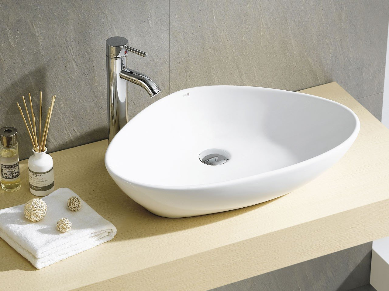 Lavabo d 39 arredo teruel 58 5x39 h14 ceram iperceramica - Lavabo bagno appoggio ...