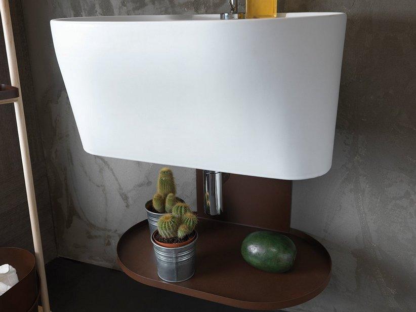 Mobile lavanderia con lavabi lavatoio in ceramica serie tino iperceramica - Lavatoio ceramica con mobile ...