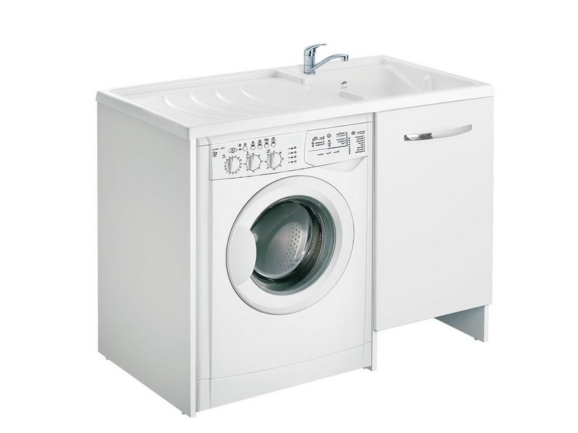 Washer Sink Combo : ... Color \ TOP COLOR LAUNDRY SINK 109x60 RIGHT COVERING WASHING MACHINE B