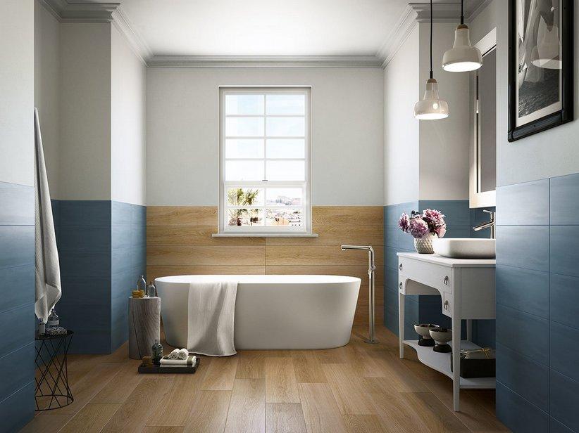 Gres effetto legno rovere naturale spazzolato life - Gres porcellanato effetto legno in bagno ...