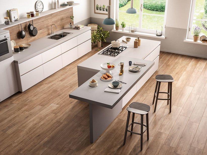 Gres porcellanato effetto legno rustico lodge iperceramica - Cucina laminato effetto legno ...