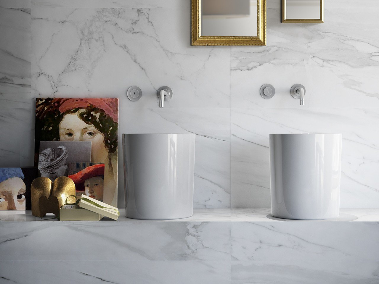 Luni bianco lappato 60x60 rettificato iperceramica - Faience giet keuken moderne ...