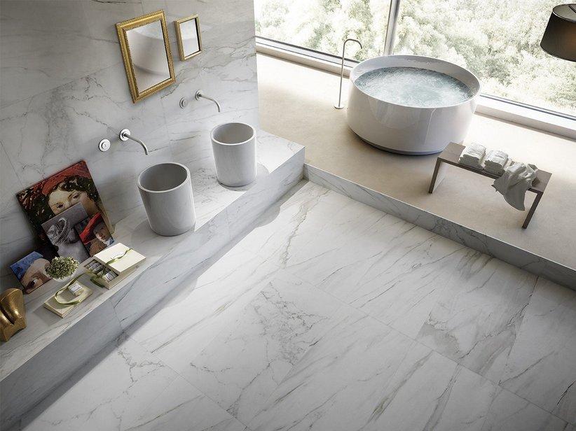 Gres porcellanato levigato effetto marmo luni - Piastrelle gres porcellanato effetto marmo ...