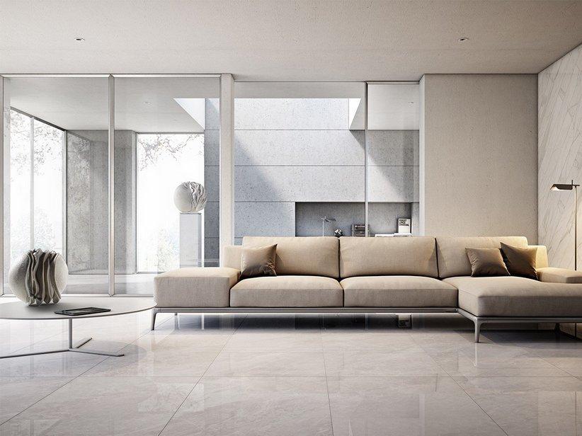 Gres porcellanato lappato effetto marmo luni iperceramica for Piastrelle bagno 60x120