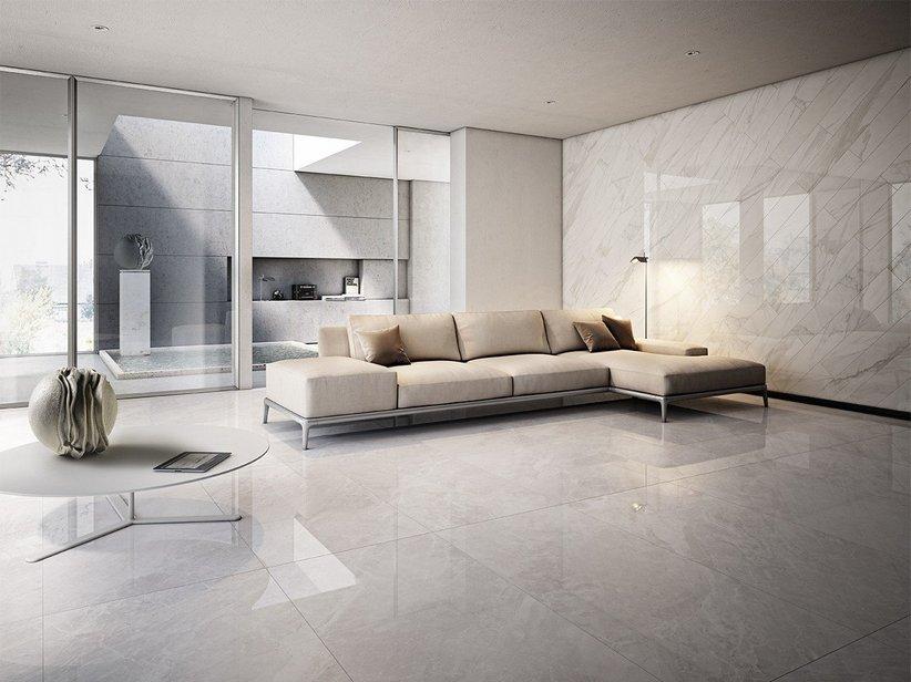 Gres porcellanato lappato effetto marmo luni iperceramica