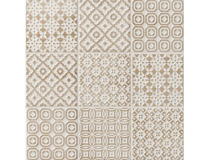 Batik Deco Tortora 10x10 7 Mm Iperceramica