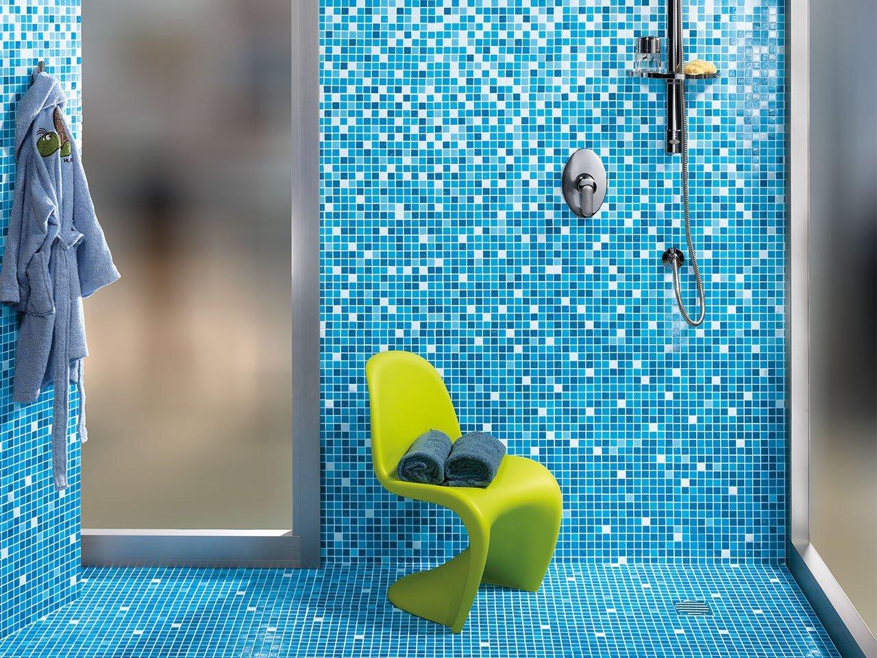 Piastrelle bagno mosaico azzurro lampada a mosaico mosaico