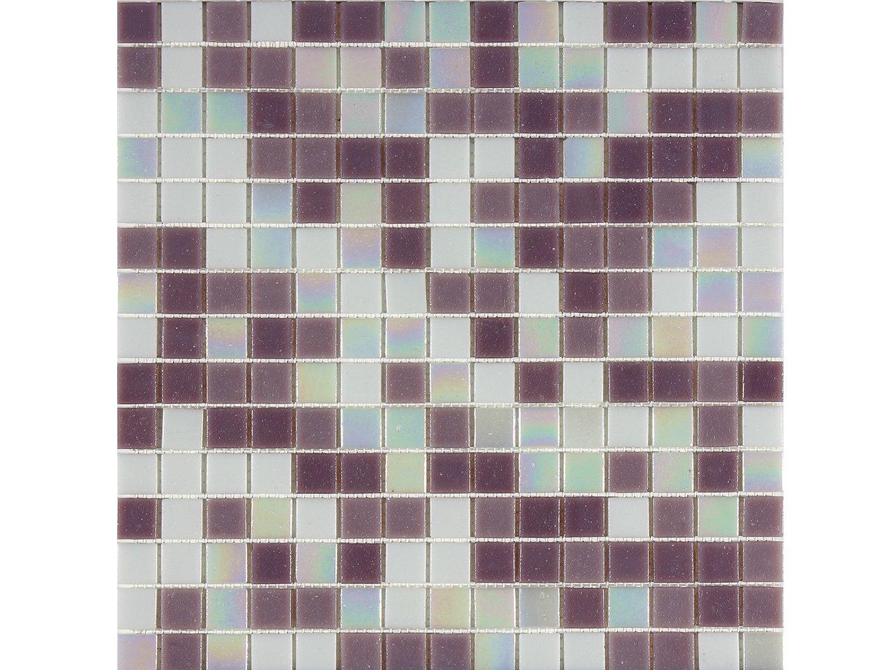 Mos vetro mix lilla iperceramica for Paraschizzi cucina mosaico