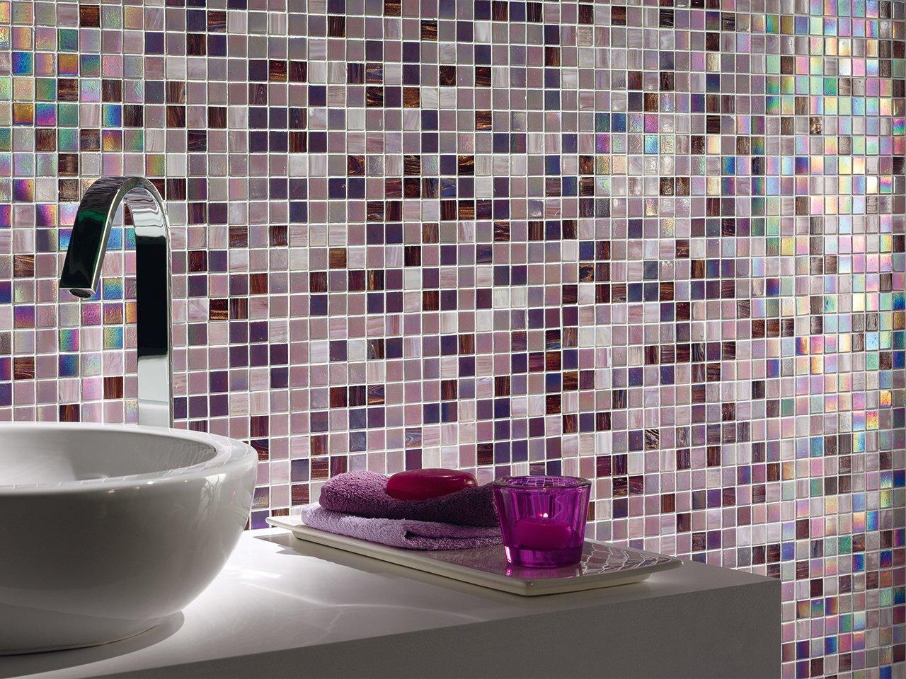 Mos vetro v3231 sweet purple iperceramica - Mosaico vetro bagno ...
