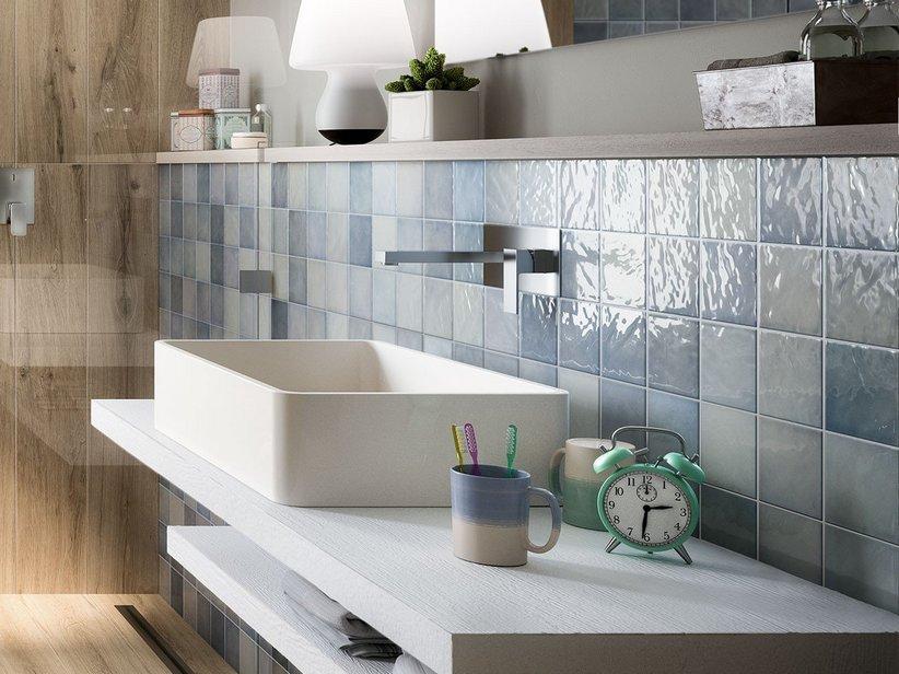 Rivestimento bagno 10x10 napoli iperceramica - Piastrelle rivestimento cucina 10x10 ...