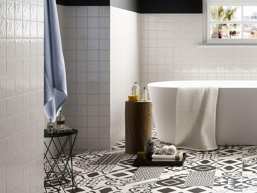 Rivestimento bagno 10x10 napoli iperceramica - Rivestimento bagno bianco ...