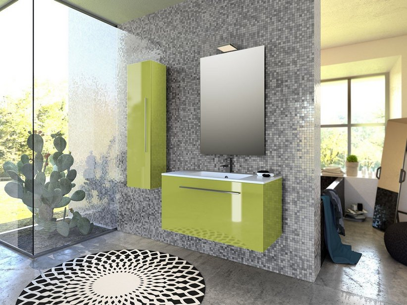 mobile bagno verde acido avienix for ., Disegni interni