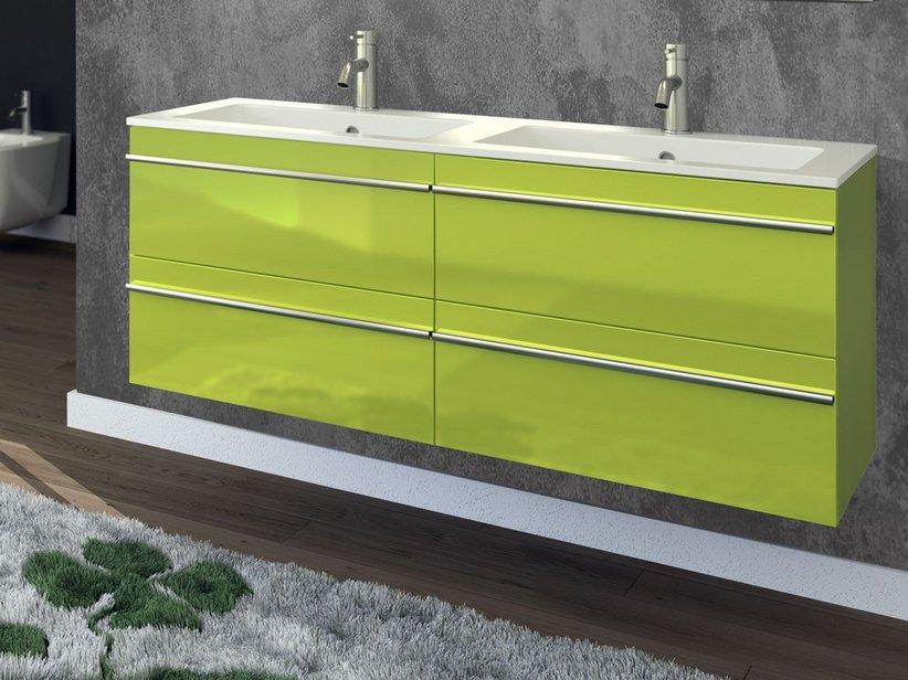 ... Mobile bagno Next 120 Color  NEXT COLOR BASE 120x45x50 VERDE ACIDO