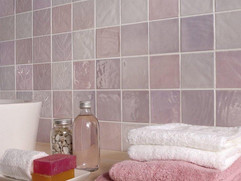 Rivestimento bagno napoli piastrelle bagno lilla