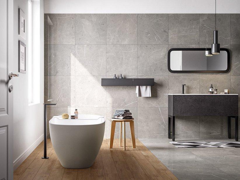 Rivestimento bagno effetto marmo luxor iperceramica - Rivestimento bagno effetto marmo ...