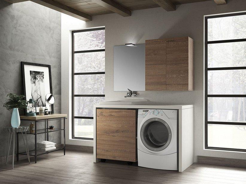 Mobile bagno qubo: qubo lavanderia composizione iperceramica