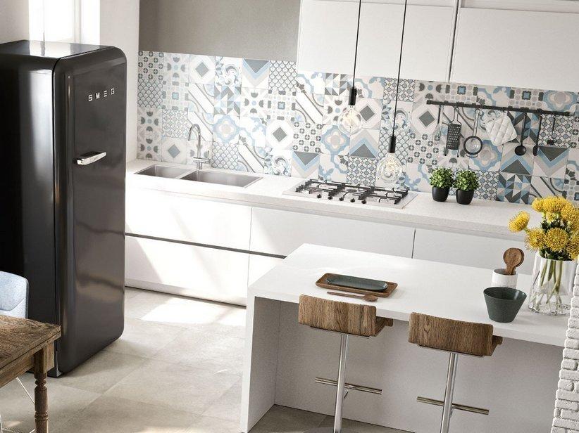 Gres porcellanato effetto cementina quilt iperceramica - Piastrelle per cucina bianca ...