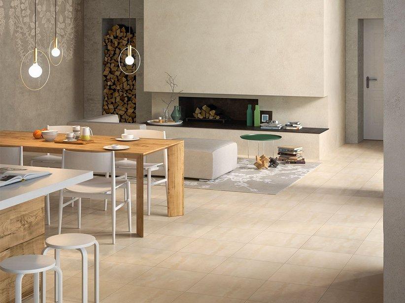 Gres porcellanato effetto cemento semilucido reflex - Gres porcellanato effetto legno in bagno ...