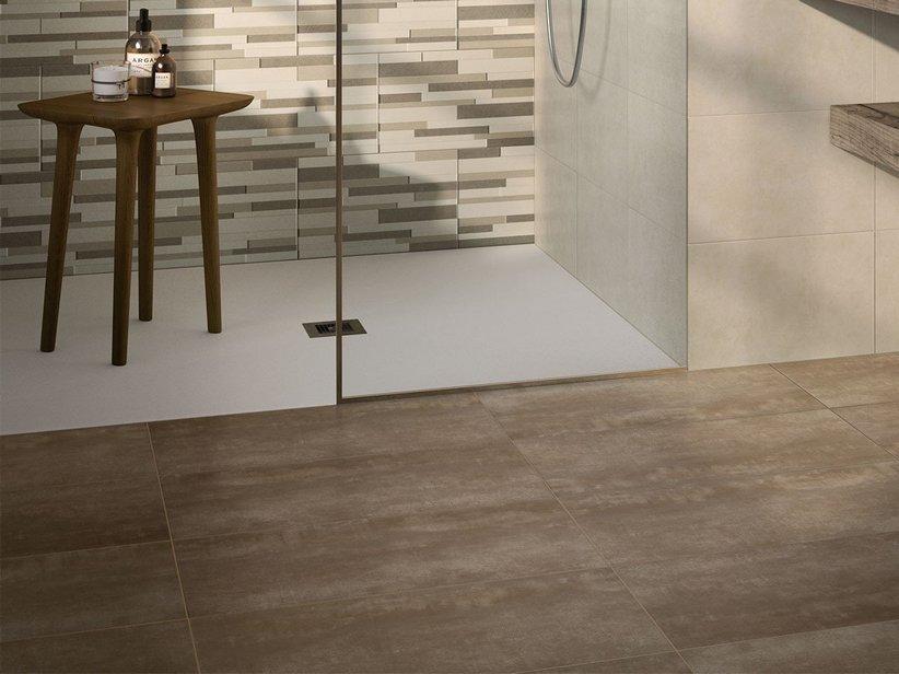 Gres porcellanato effetto cemento semilucido reflex iperceramica - Piastrelle color tortora ...