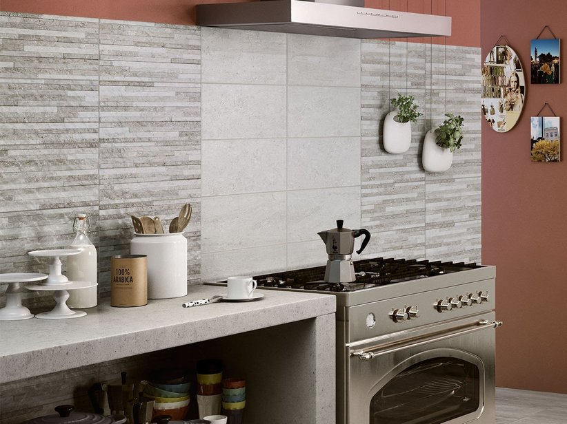 Piastrella per rivestimento cucina rieti iperceramica - Rivestimento bagno grigio ...